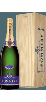 CHAMPAGNE POMMERY - BRUT ROYAL - JEROBOAM - CAIXA DE MADEIRA
